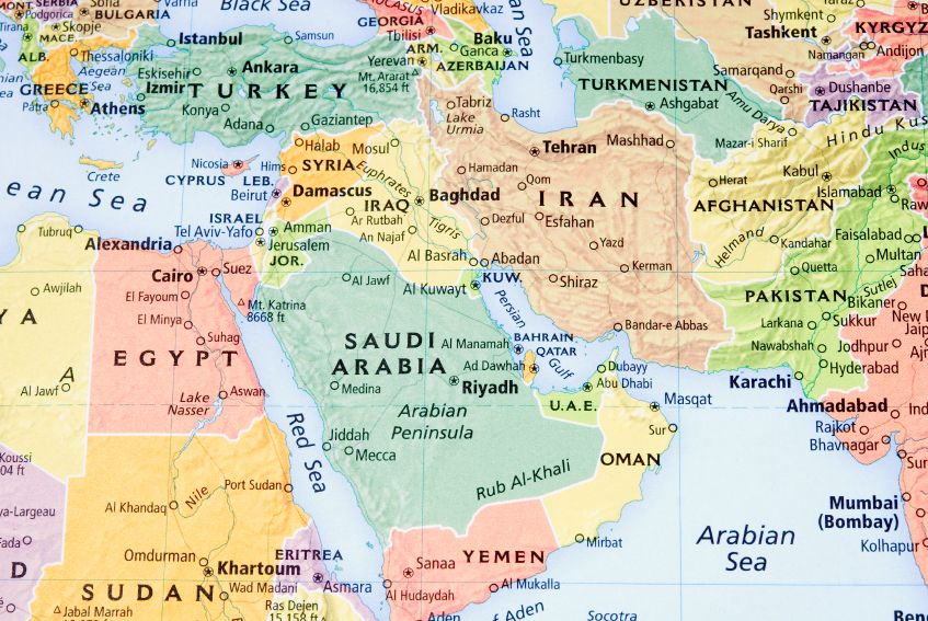 The tiny nation of Israel is surrounded by a sea of hostile neighbors.