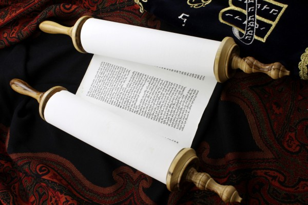 Torah scroll-bimah
