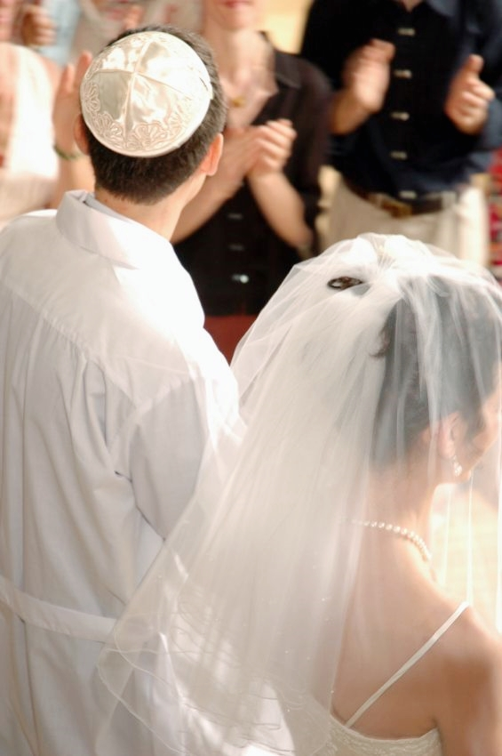 A Jewish bride and groom