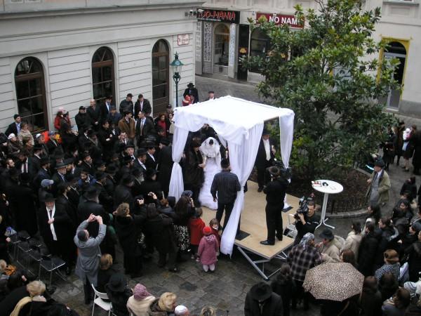 Jewish Wedding Vienna Jan 2007 An Outdoor