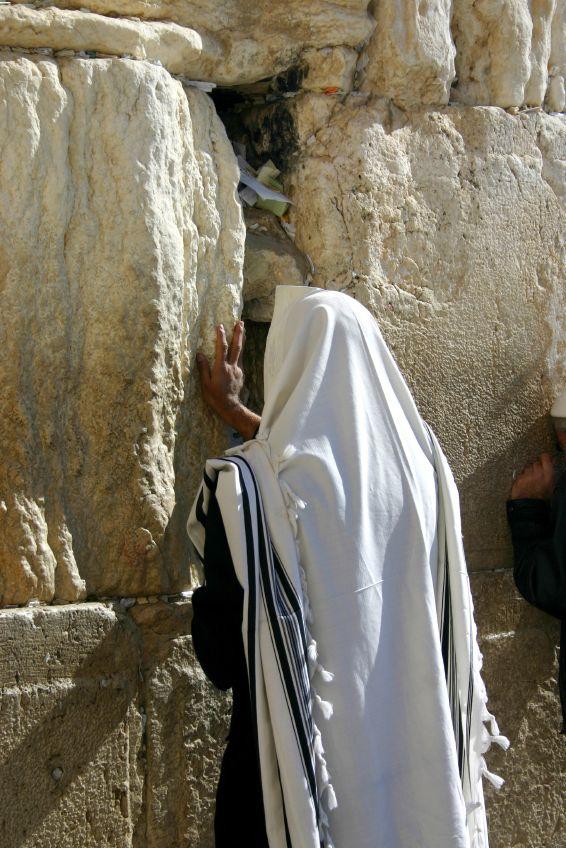 Jewish Man-Praying-Western (Wailing) Wall-Jerusalem