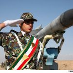 Iranian Soldier-Rocket-Saluting