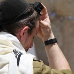 Israeli-Soldier-Morning Prayers-Western Wall-Tefillin-Tallit