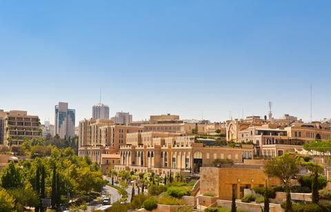 Jerusalem street-walled Old City-Jerusalem