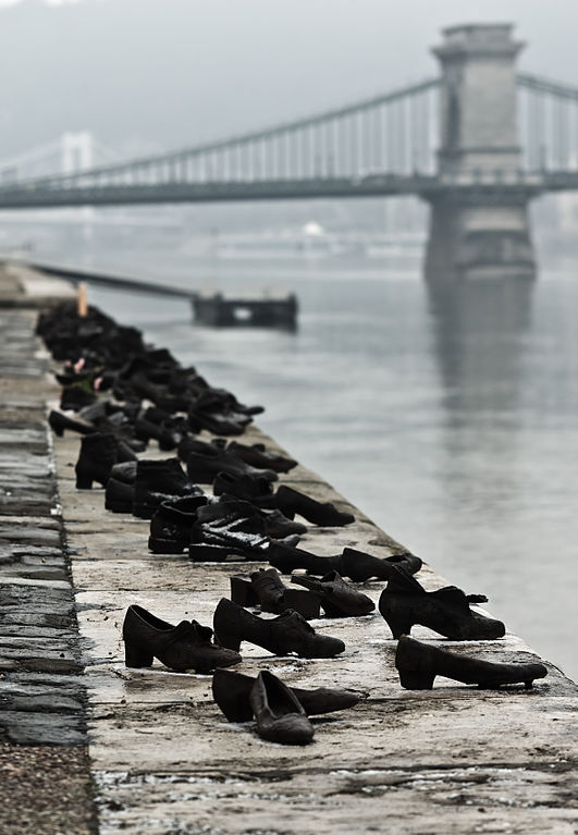The Shoes of the Danube Promenade-Memorial-Budapest-Hungary