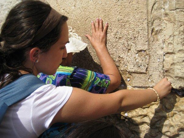 Western Wall-Jewish women-paper-prayer-spaces between the stones