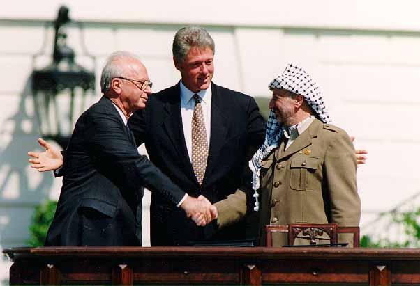 Bill Clinton_Yitzhak Rabin_Yasser Arafat_White_House