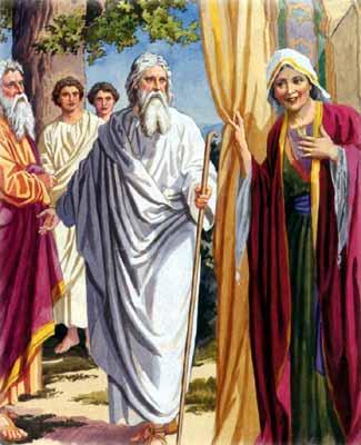Sarah-Abraham-three angels-art