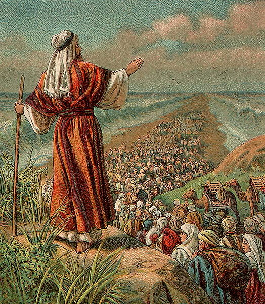 Israel's Escape from Egypt-Bible card illustration-1907