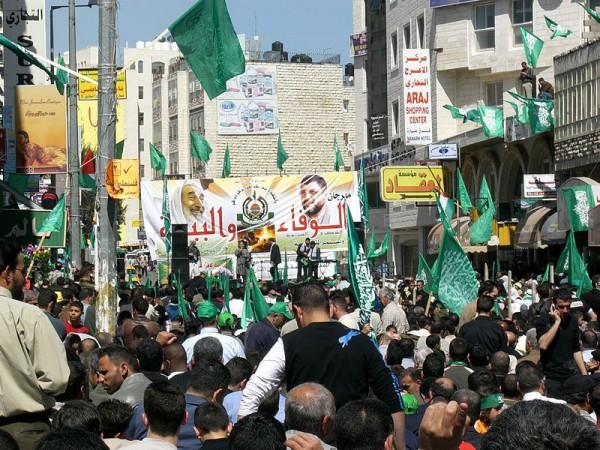 Hamas election rally-Ramallah
