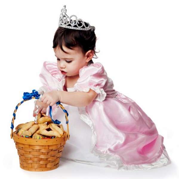 Esther-Jewish girl-basket-Purim-cookies