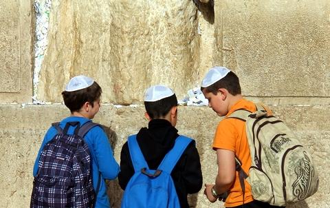 boys-Kotel-Western Wall-Jerusalem