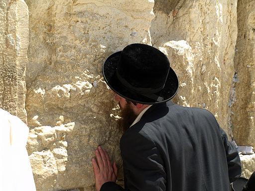 Orthodox Jewish Man-praying-Western (Wailing) Wall