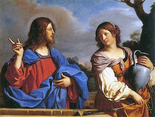 Yeshua and the Samaritan Woman at the Well, by Guercino