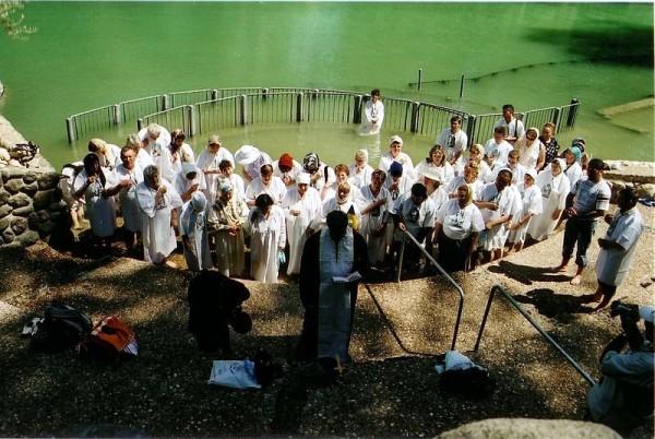 Yardenit, Christians, Visitors, Baptism, Mikvah, Immersion