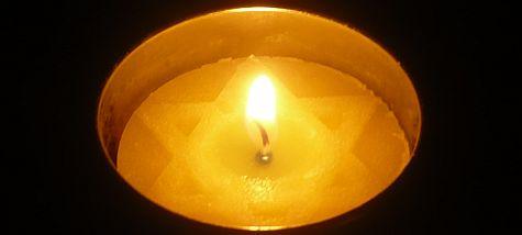 A Yom HaShoah candle.