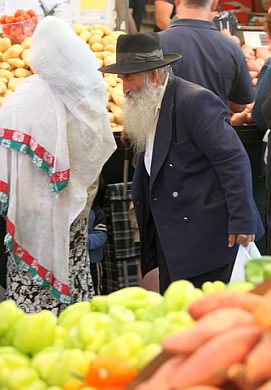 Open-air market in Jerusalem