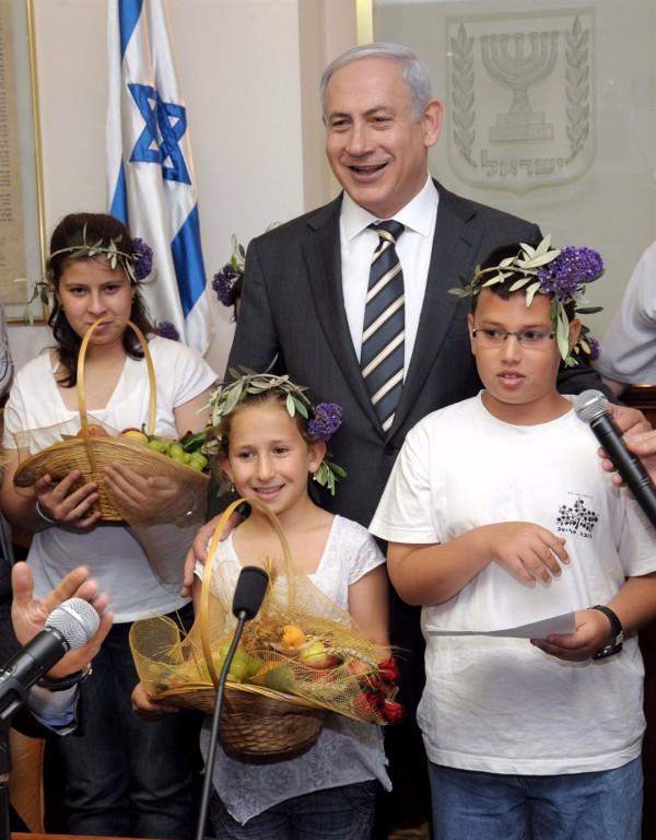 Shavuot-Benjamin Netanyahu-Children