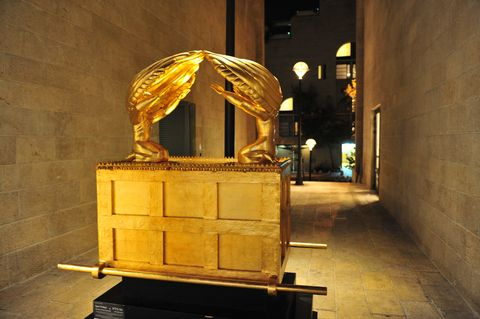 A representation of the Ark of the Covenant in the Jerusalem neighborhood of Mamilla.