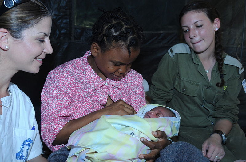Haitian mother-baby-first born-Israel Defense Forces Field Hospital-Haiti