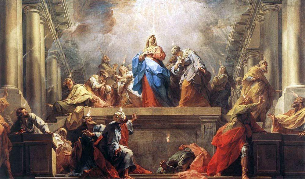 Pentecost, by Jean II Restout