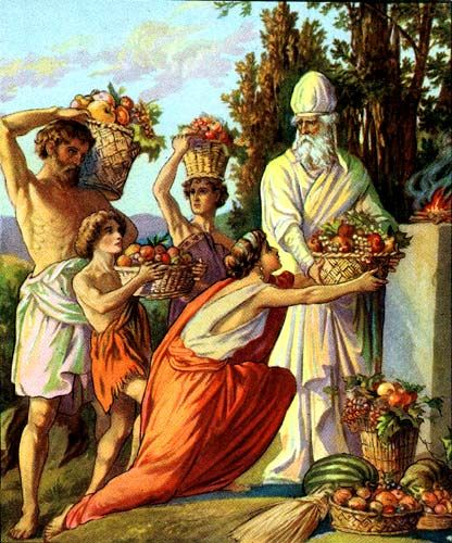 Offering of the first fruits