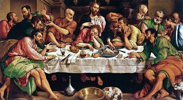 <strong>The Last Supper</strong>, by Jacopo Bassano