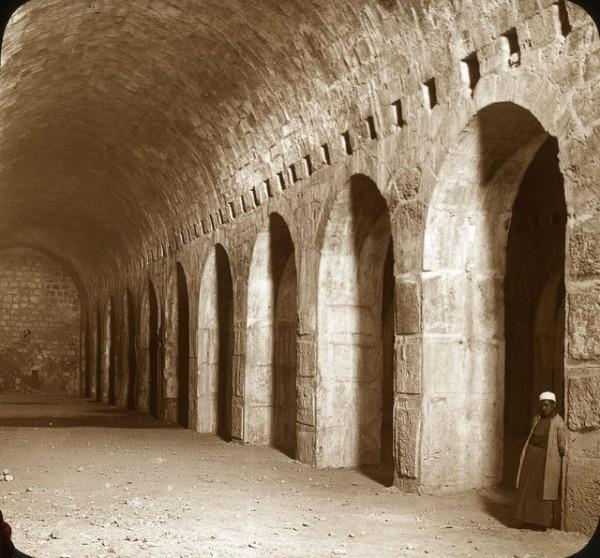 Solomon's Stables-Temple Mount-Circa 1915