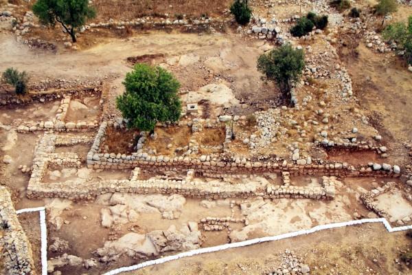 aerial-King David's palace-Byzantine-farmhouse