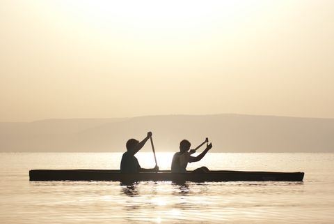 Day breaks on the Sea of Galilee