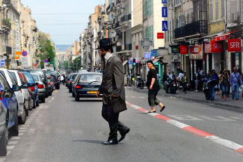 Orthodox Jewish man-Marseille-France