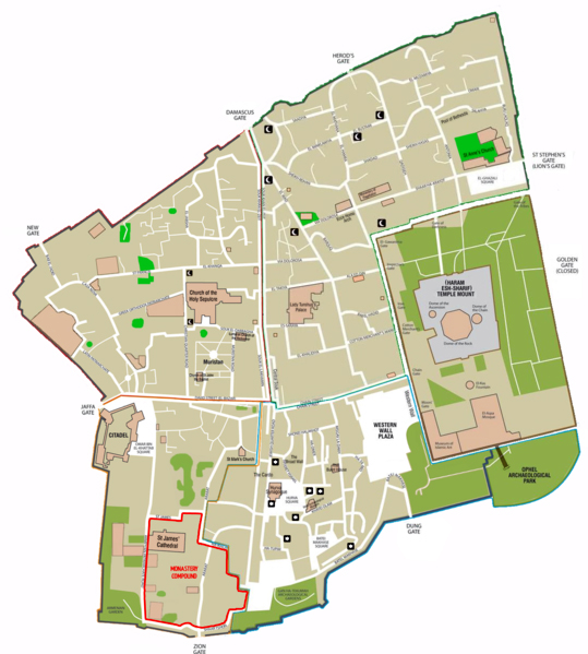 Old City-Jerusalem-Map