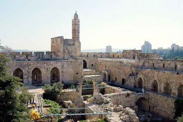 The Tower of David and the Archaeological Gardens in Jerusalem