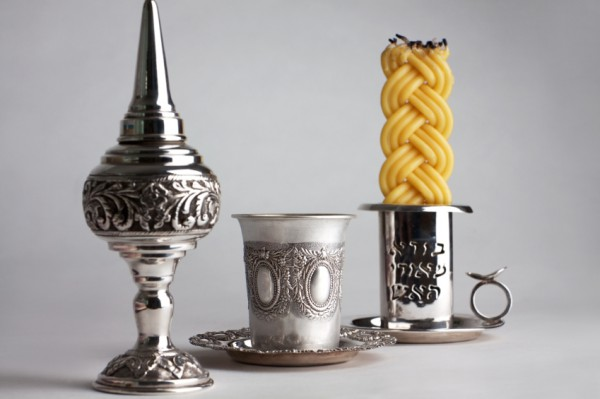 Havdallah set-spice box-kiddish cup-braided candle