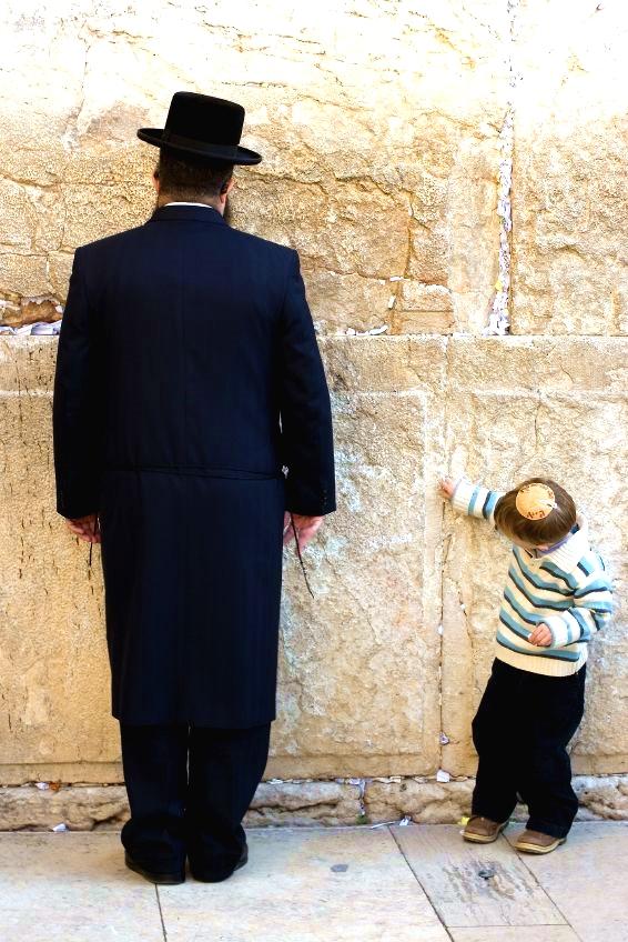 Praying-Western Wailing Wall