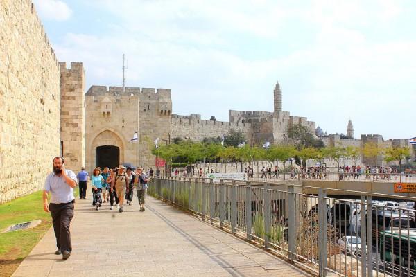 The Jaffa Gate-Jerusalem walls-Tower of David