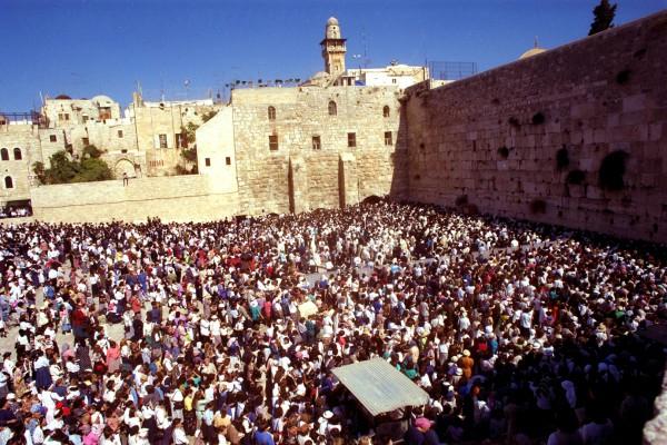 Jerusalem-Israel-Kotel Plaza-Wailing Wall-crowd-worship