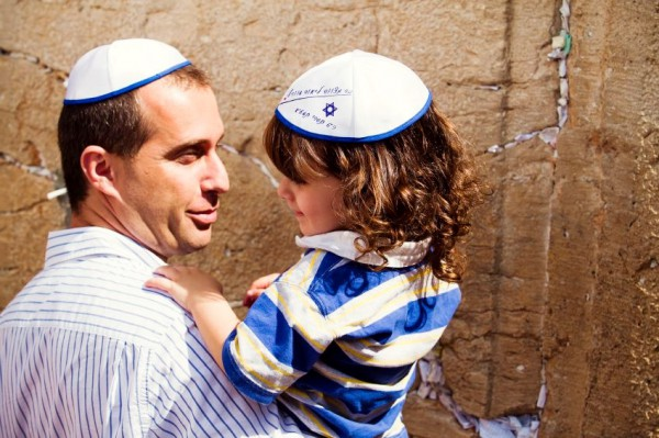 Father-Son-Kotel-Wall-Promised Land