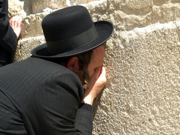 Orthodox-Jewish Man-Western Wall-Holy of Holies-Temple Mount
