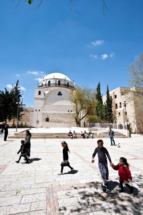 Jewish-children-Jerusalem-Jewish Quarter-Hurva