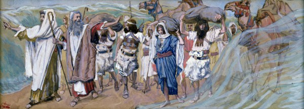 Tissot_Red Sea_Waters Parted_Moses_Israelites