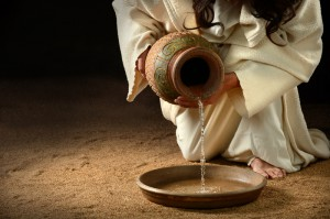 http://www.dreamstime.com/stock-photo-jesus-pouring-water-pan-jug-to-to-wash-feet-disciples-image34881330