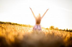 Woman In A Wheat Field