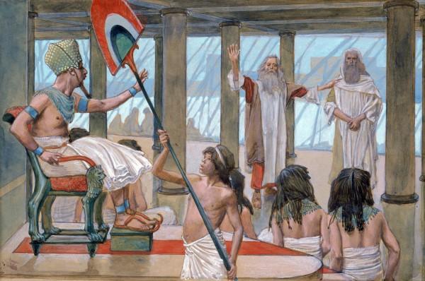 Moses Speaks to Pharaoh-James Tissot