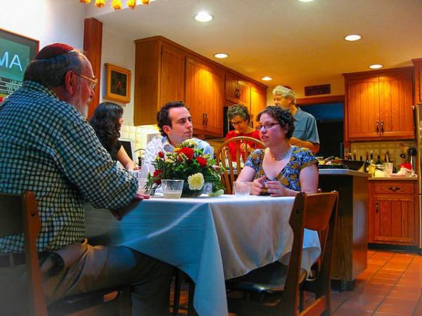 Jewish Family-gathers-Shabbat Dinner