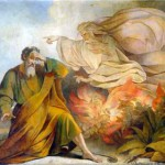 God Appears to Moses in Burning Bush, by Eugène Pluchart (painting from Saint Isaac's Cathedral, Saint Petersburg)