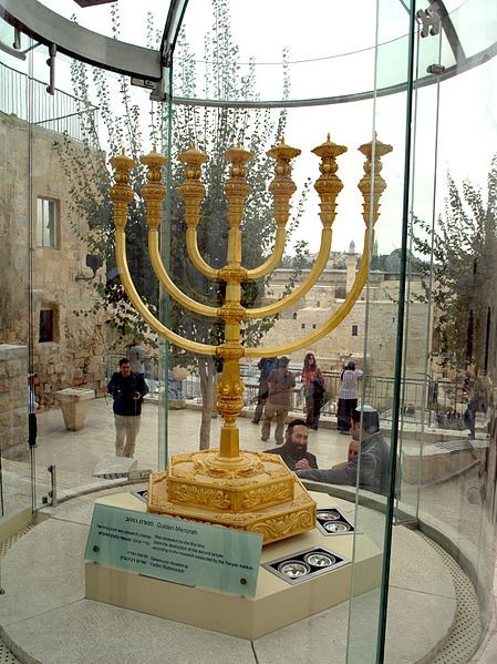 Golden Menorah-replica-Jerusalem