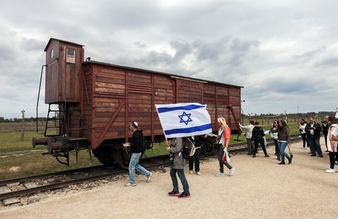 Auschwitz-boxcar-transport Jews-extermination and concentration camps