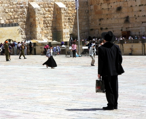 Orthodox Jewish man-Western Wall Plaza-Kotel