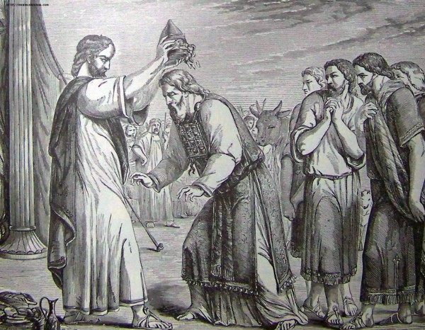 Consecration of Aaron and His Sons-Holman Bible
